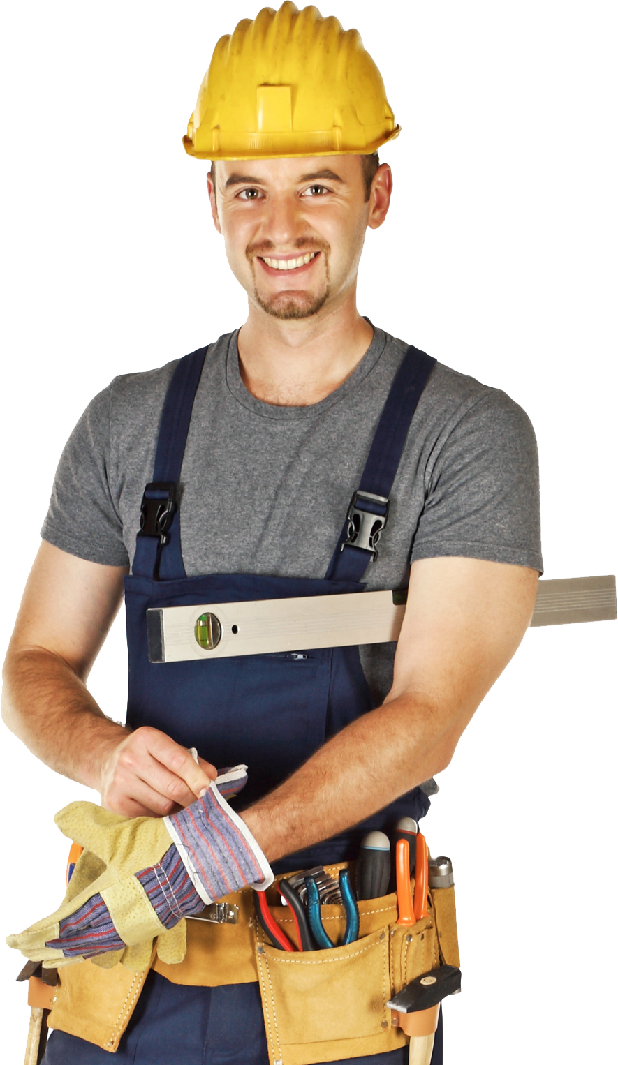 man with foundation repair tools